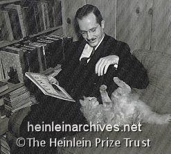 Heinlein with cat