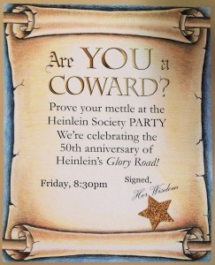Are You a Coward Glory Road party flyer