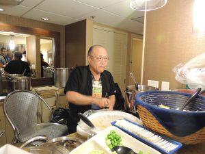 Keith Kato preparing the Are You A Coward chili