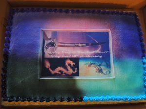 Cake celebrating 50 years of Heinlein's Glory Road