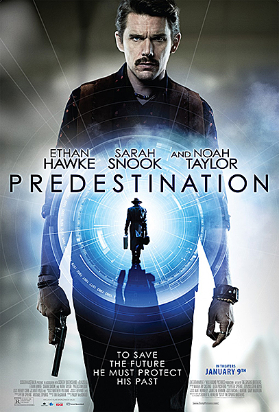 """Predestination"" poster  Ethan Hawke, Sarah Snook"