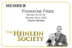 Heinlein Society Regular Member Card